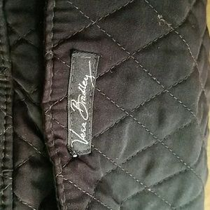 Vera beadley, black quilted purse